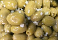 Cornish Olive Stall -Garlic Stuffed - 200g
